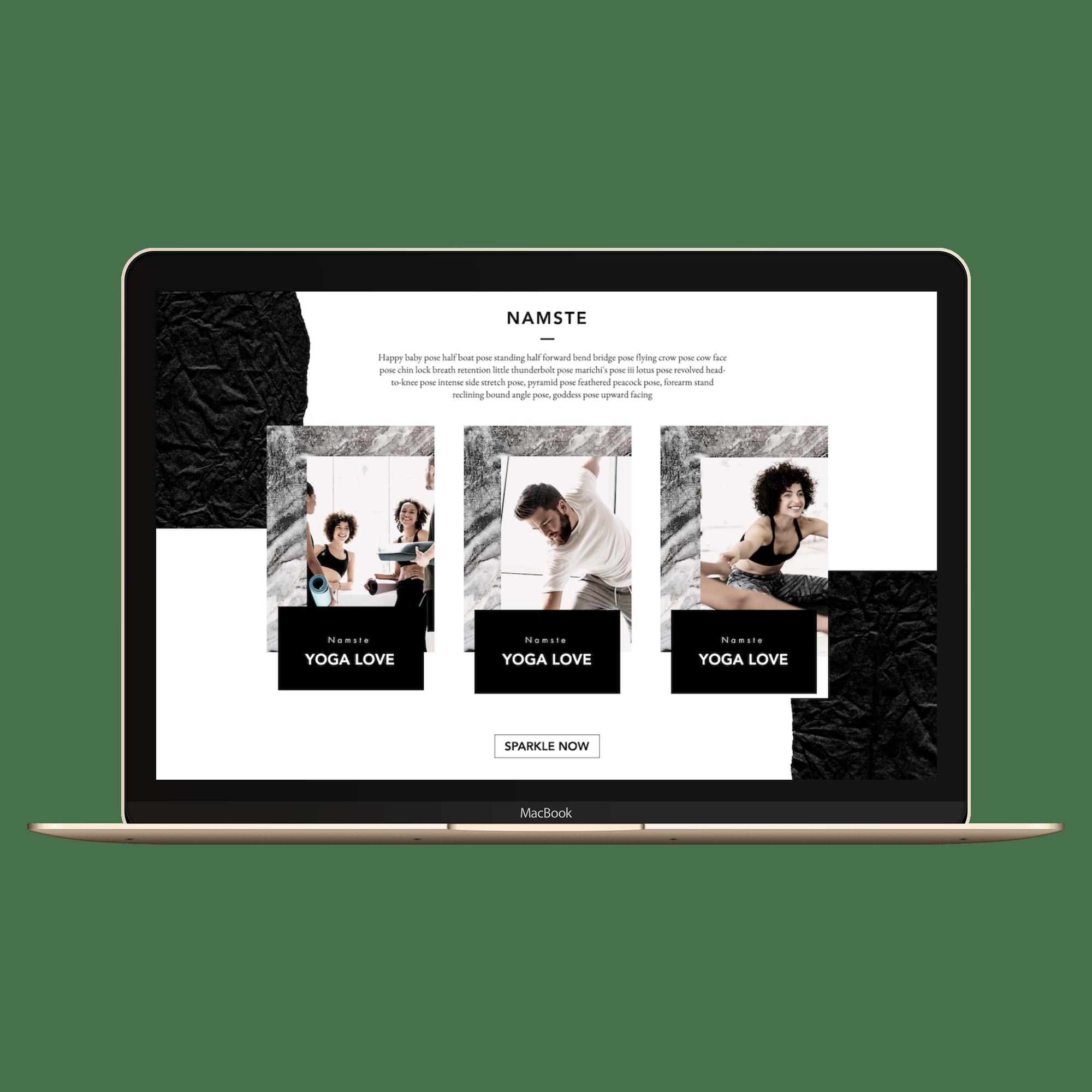 Example Website Trikonasana