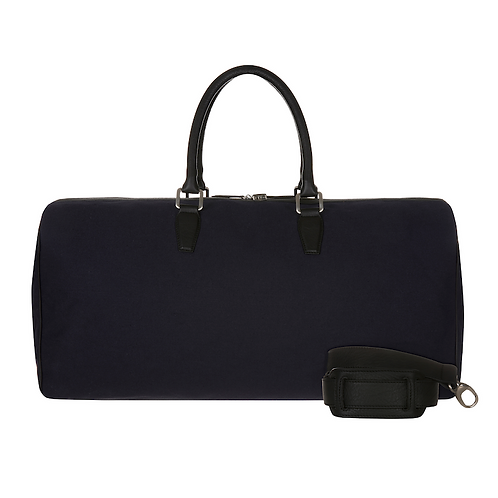 Reisetasche aus Canvas  blau / schwarz