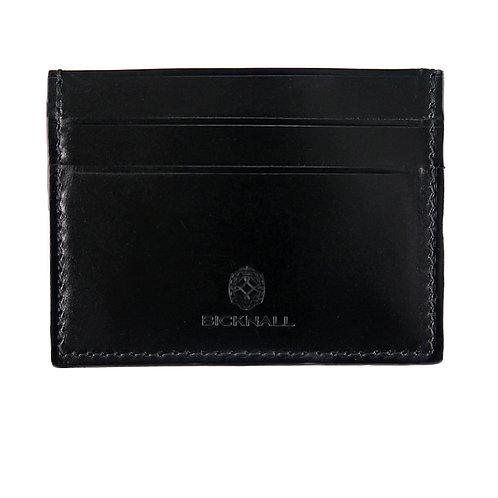 Kreditkartenetui für Herren in schwarz aus Sattelleder