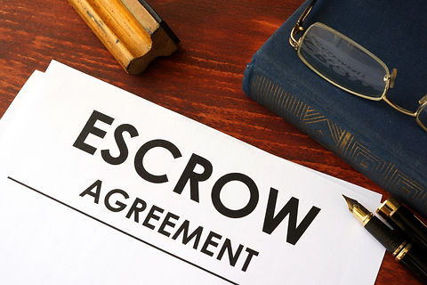 Document with title escrow agreement..jp