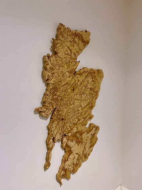 Large Scotland Plywood Map