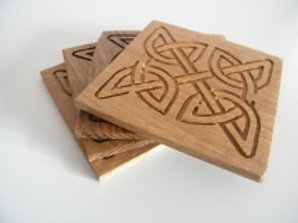 Oak Celtic Coasters