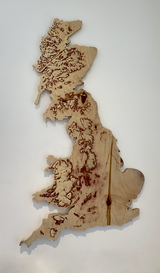 Great Britain Plywood Map