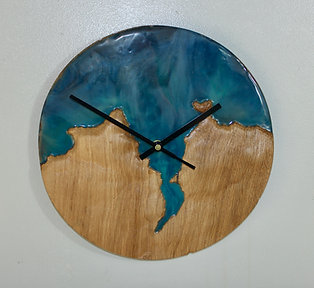 Topographical Cardigan Bay Resin Art Clock