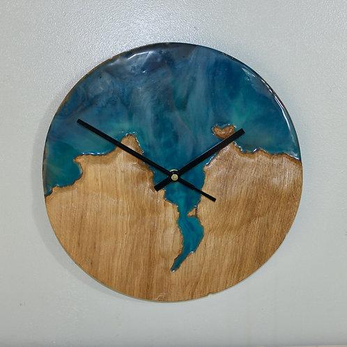 Topographical Cardigan Bay Resin Art Clock