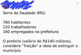 """A PEC da extinção de municípios pequenos: """"mais Brasília, menos Brasil"""""""