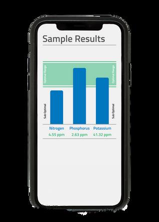 Cell Phone MySoil App Close up Details S