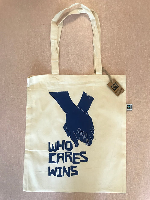Who Cares Wins  - Fair-trade Tote Bag
