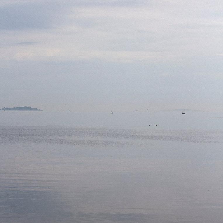 Misty sea scape