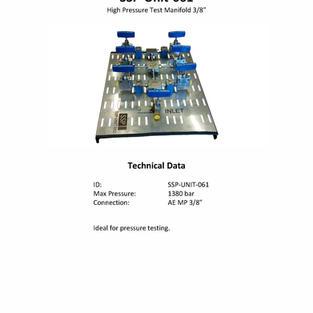 "High Pressure Test Manifold 3/8"""