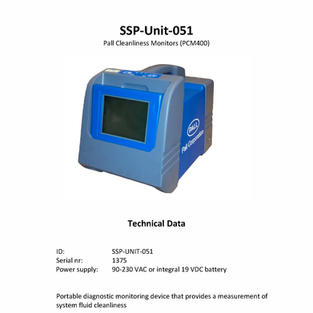 Pall cleanliness monitors (PCM400)