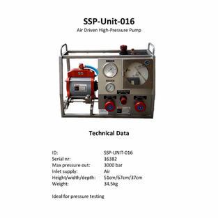 Air Driven High Pressure Pump