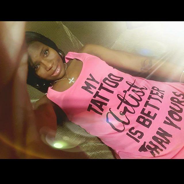 Sus in her custom promo t shirt! Pre ord