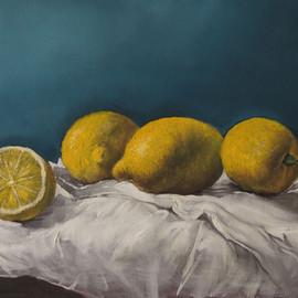 Zitronen auf Leinwand