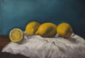 Лимоны на холсте