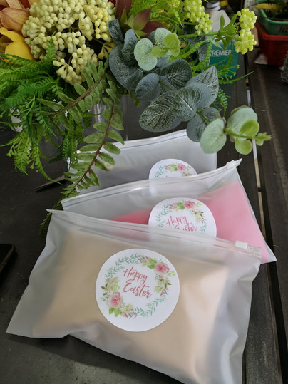 Easter Pouches with Customized Sticker