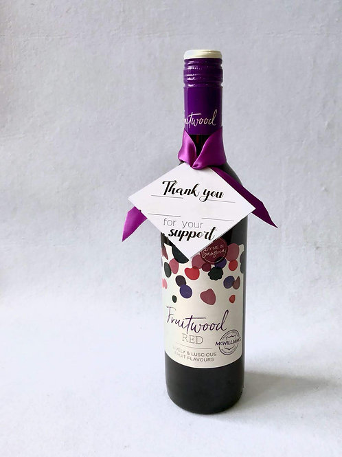 Wine Bottle with Gift Tag