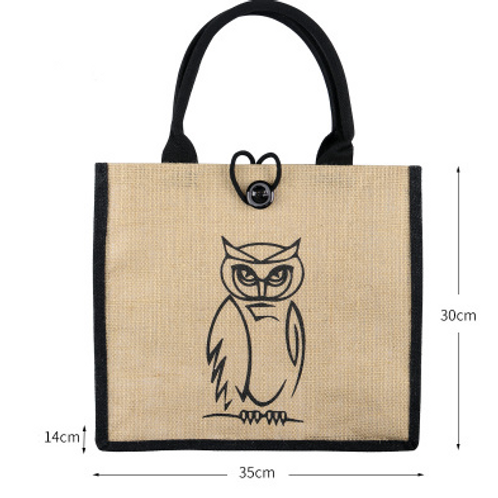 Customisable Linen Tote Bag