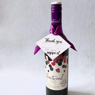 Wine with Gift Tag