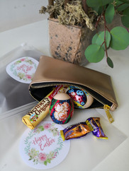 Easter Pouch with Candy & Mock Eggs
