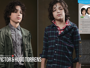 Victor & Hugo Torrens - modelling twins from Brazil