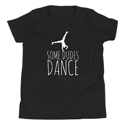 Some Dudes Dance Black Youth T-Shirt