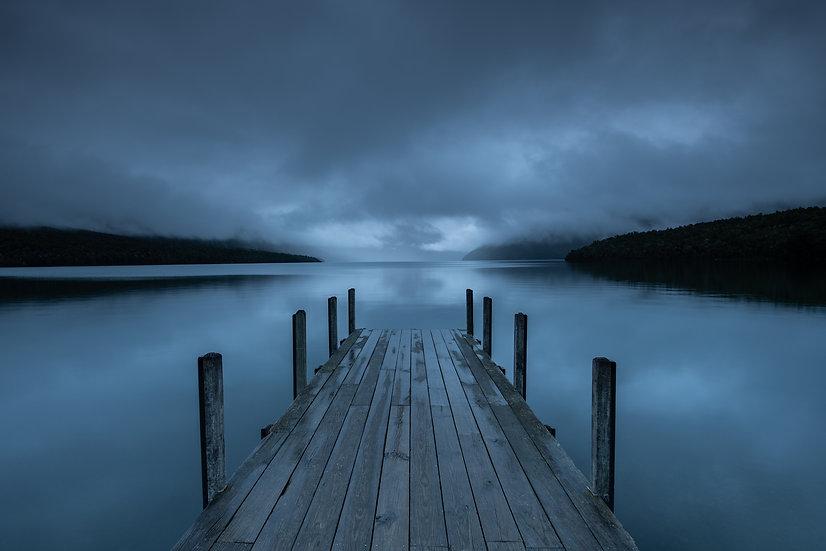 Adam Crews Imagery, Adam Crews, Adam Crews Photography, New Zealand, Lake Rotoiti, Nelson Lakes, Wharf, Mountains