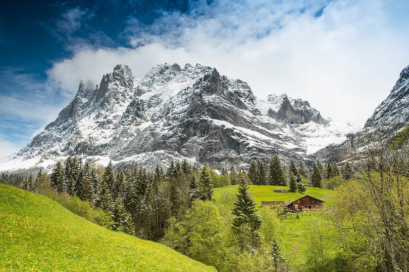 Adam Crews Imagery, Adam Crews, Adam Crews Photography, Hills, Snow Cap, Mountains, Grindelwald, Switzerland, Europe