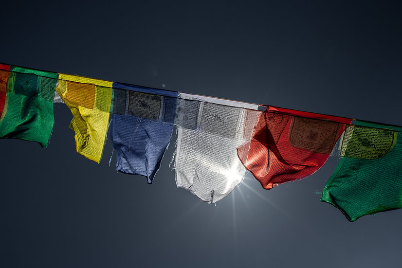 Mount Everest Region, Himalaya, Nepal, Prayer Flags, Sagarmatha National Park