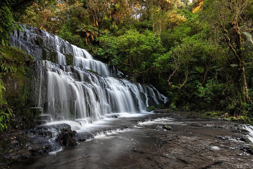 Adam Crews Imagery, Adam Crews, Adam Crews Photography, New Zealand, Waterfall, Purakaunui Falls, Catlins Forest Park, Lush