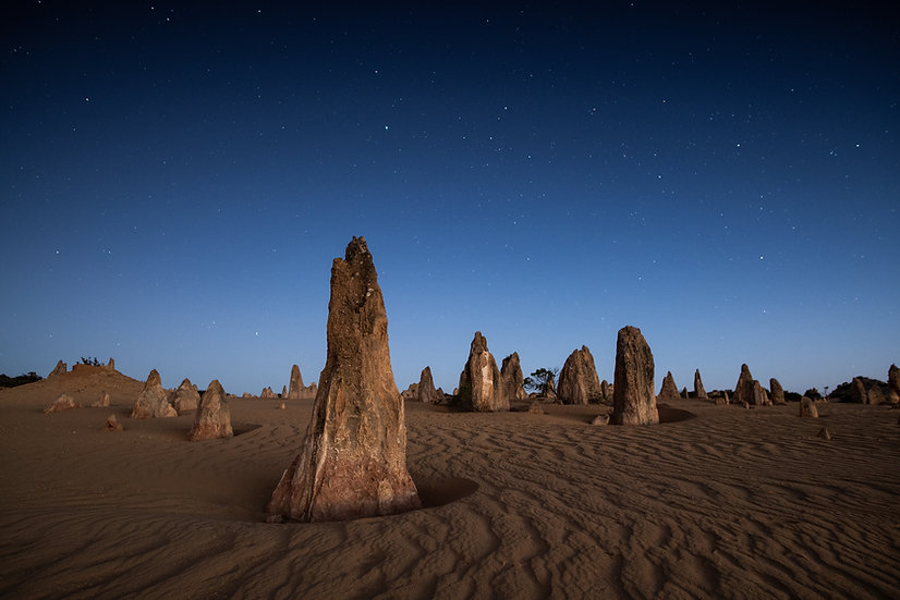 The Pinnacles, Nambung National Park, Western Australia, Stars, Galaxy, Long Exposure