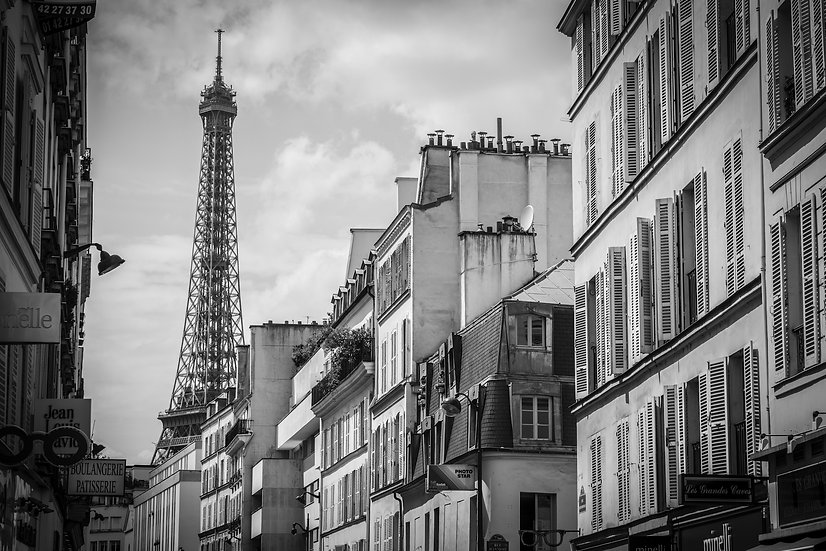 Adam Crews Imagery, Adam Crews, Adam Crews Photography, Black & White, Eiffel, Eiffel Tower, Paris, France, Europe