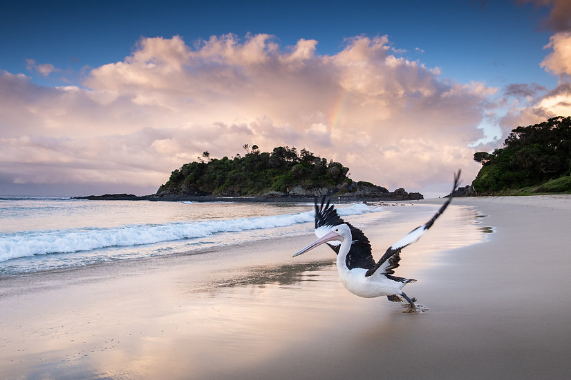Adam Crews Imagery, Adam Crews, Adam Crews Photography, Pelican, Seal Rocks, Forster, Central Coast, Sunset, Rainbow, Beach