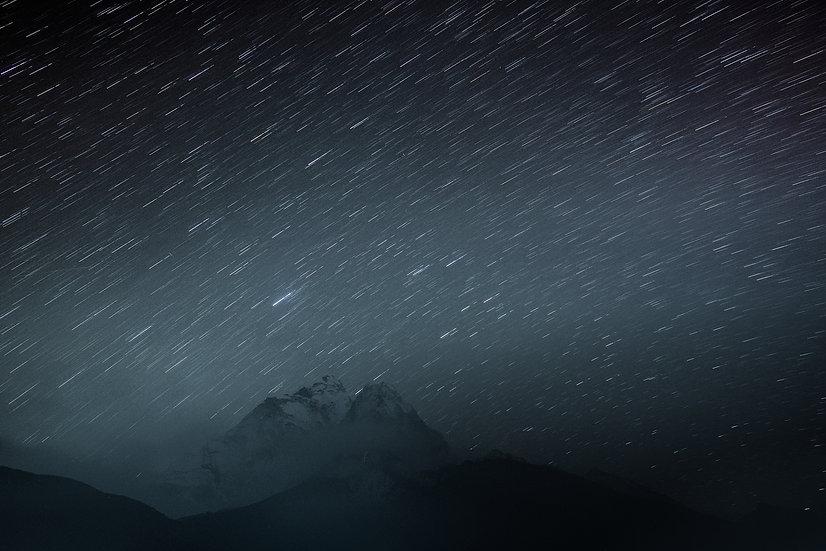 Mount Everest Region, Himalaya, Nepal, Mountains, Stars, Galaxy, trekking, Sagarmatha National Park