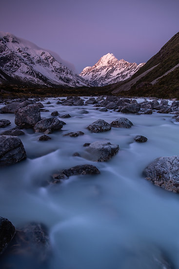 Adam Crews Imagery, Adam Crews, Adam Crews Photography, New Zealand, Mountains, River, Mount Cook, Hooker Valley, snow