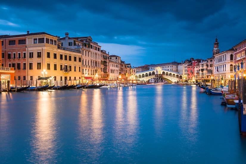 Adam Crews Imagery, Adam Crews, Adam Crews Photography, Grand Canal, Venice, Dusk, Italy, Europe, Renalto Bridge