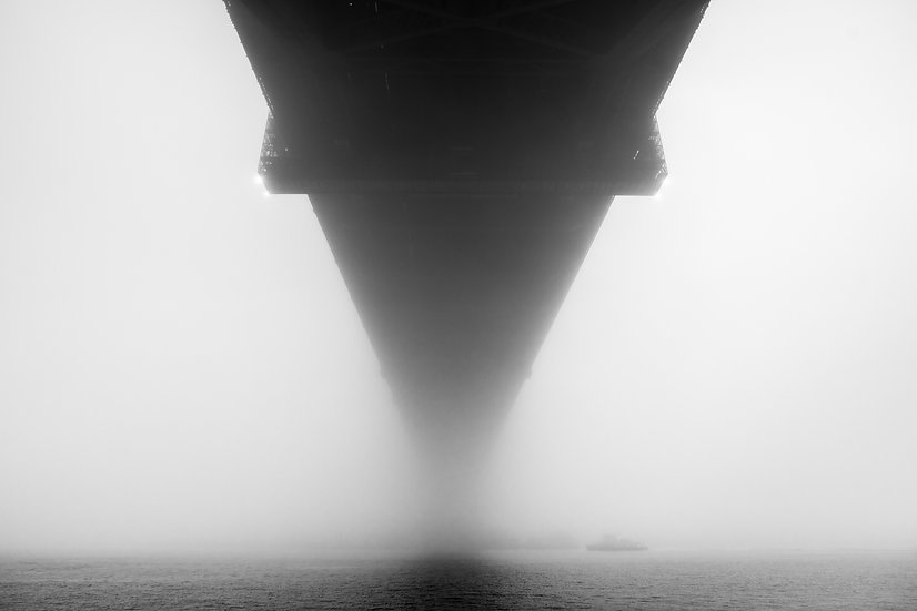 Adam Crews Imagery, Adam Crews, Adam Crews Photography, Black & White, Ferry, Sydney Harbour Bridge, Fog, Australia, Sydney