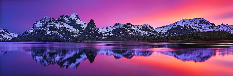 Adam Crews Imagery, Adam Crews, Adam Crews Photography, Sunset, Fjord, Mountains, Lofoten Islands, Norway, Europe