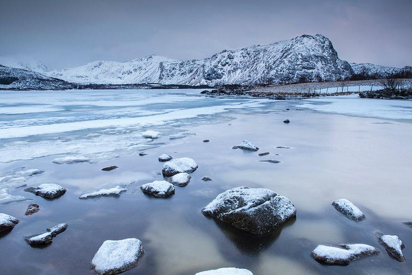 Adam Crews Imagery, Adam Crews, Adam Crews Photography, Sunset, Lake, Mountains, Lofoten Islands, Norway, Europe