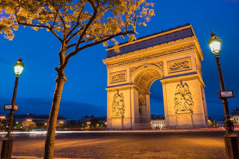 Adam Crews Imagery, Adam Crews, Adam Crews Photography, Dusk, Arch De Triumph, Paris, France, Europe