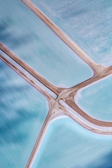 Shark Bay, Western Australia, Abstract, Abstract Photography, Aerial Photography, Useless Loop