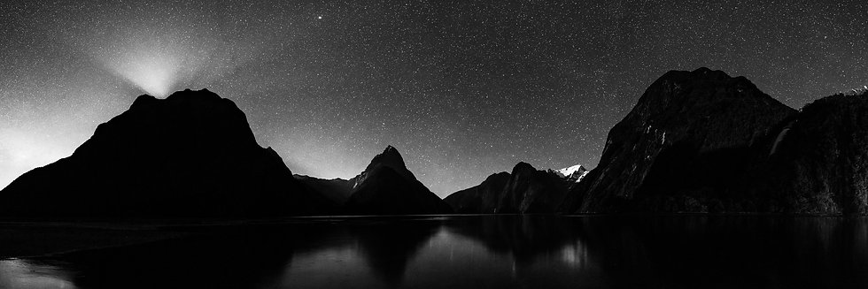Adam Crews Imagery, Adam Crews, Adam Crews Photography, New Zealand, Milford Sound, Mountains, Fiordlands, Stars, Galaxy