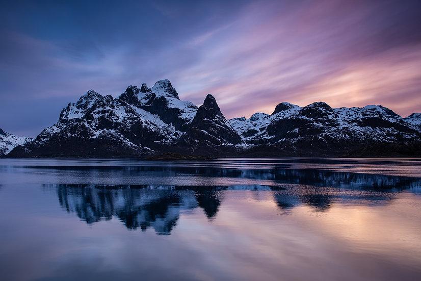 Adam Crews Imagery, Adam Crews, Adam Crews Photography, Mountains, River, Lofoten Islands, Sunset, Fjord, Norway