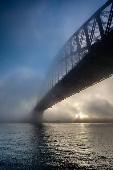 Adam Crews Imagery, Adam Crews, Adam Crews Photography, Sunrise, Sydney Harbour Bridge, Fog, Australia, Sydney