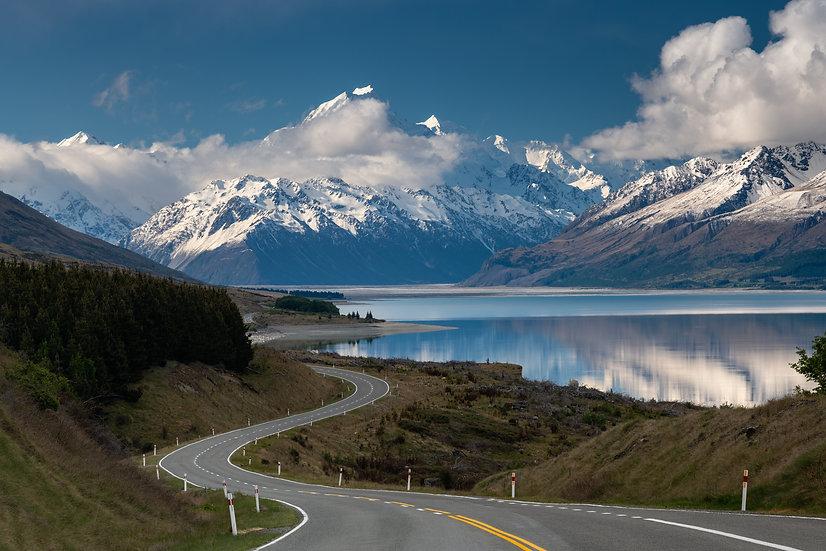 Adam Crews Imagery, Adam Crews, Adam Crews Photography, New Zealand, Mountains, Lake, Mount Cook, Hooker Valley, snow