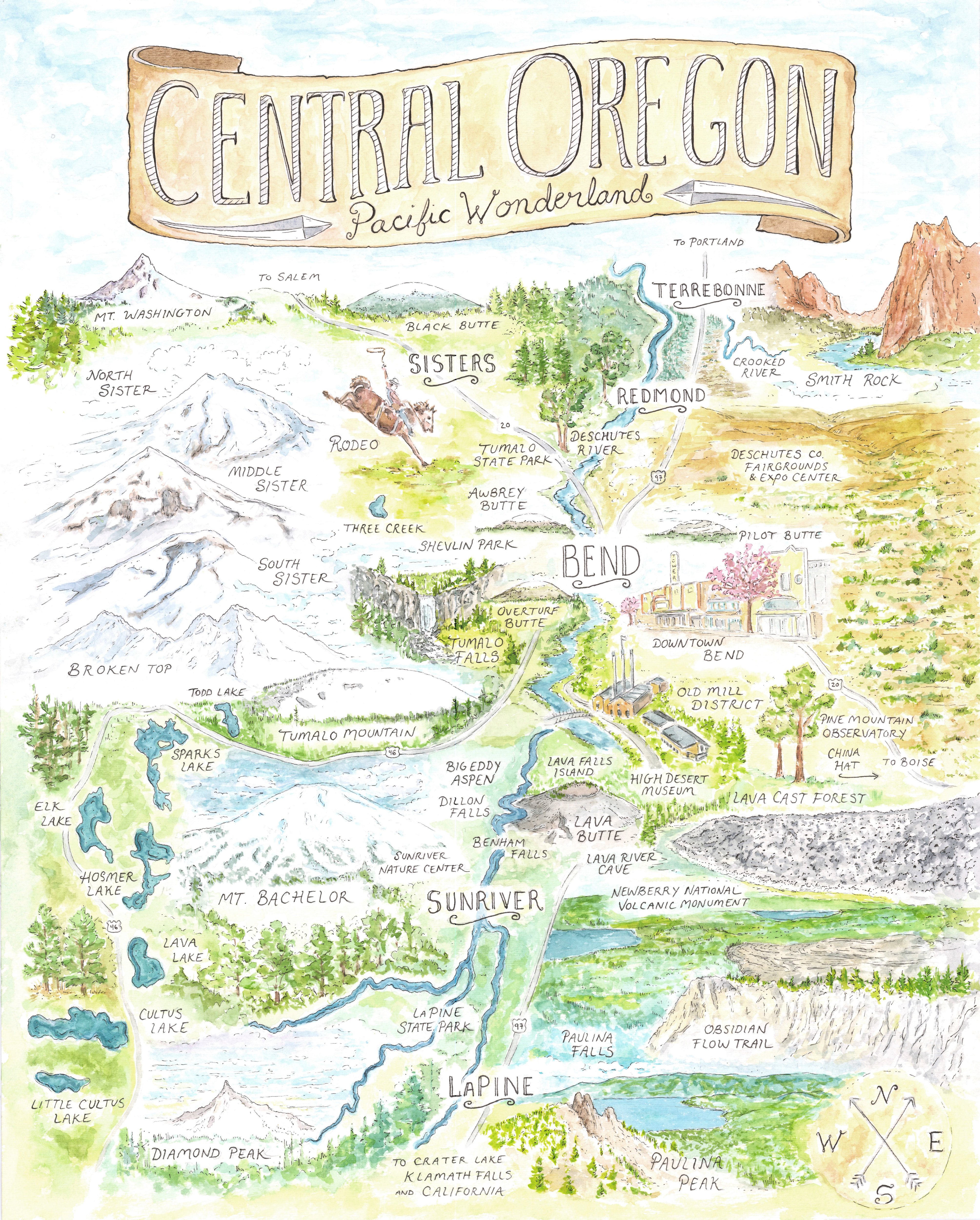 Central Oregon Map | hikerbooty on