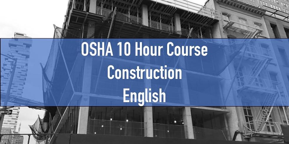 OSHA 10 Hour Course-Construction-English