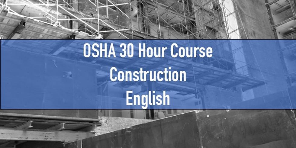 OSHA 30 Hour Course-Construction-English