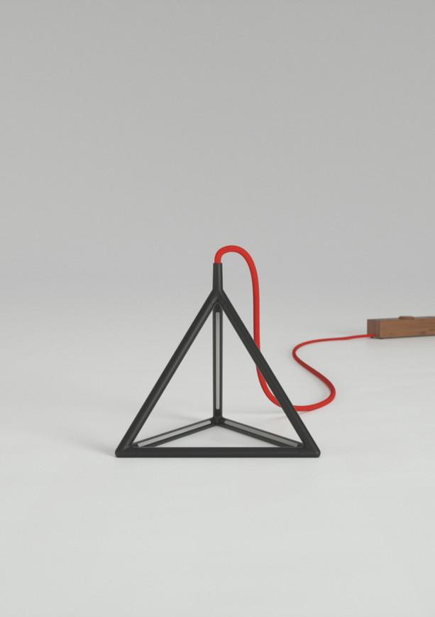 Tetra Medium_Matte Black_Red Cord_Light