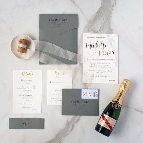 Michelle's Wedding Invitation Suite